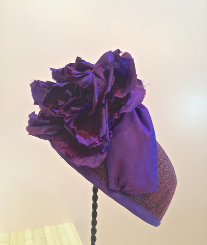 Alyssa, Radiant Orchid Pill Box Hat