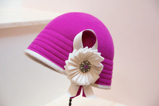 """Champion"" Hot Pink Cloche Hat in Radiant Orchid"