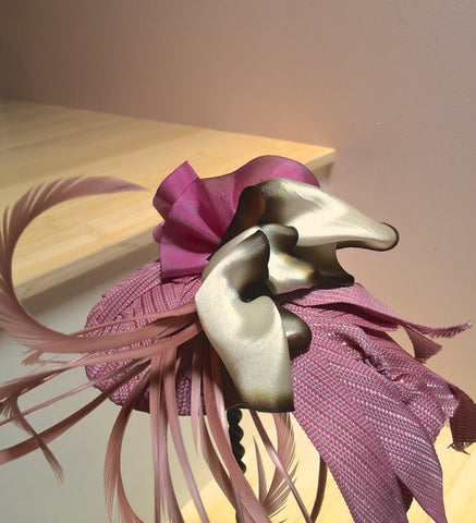 Fascinator in Marsala!