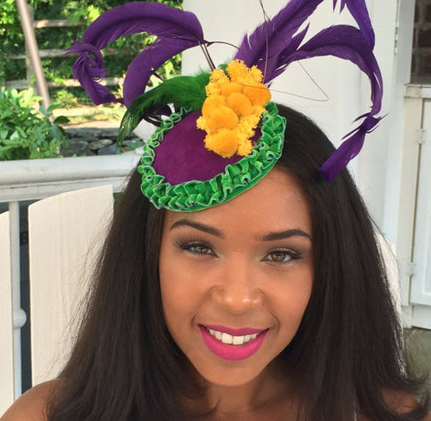 MARDI GRAS FASCINATOR!