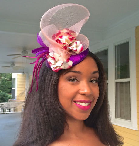 Radiant Orchid Fascinator!