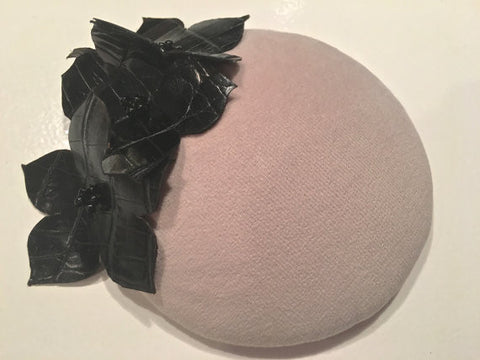 Fascinator-Beige Velour!