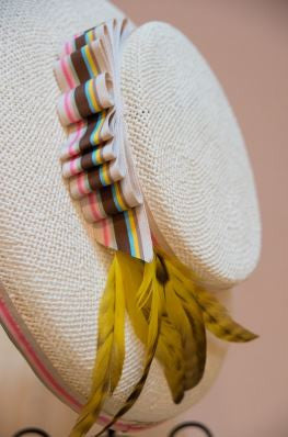 Pearla, Straw Boater Hat