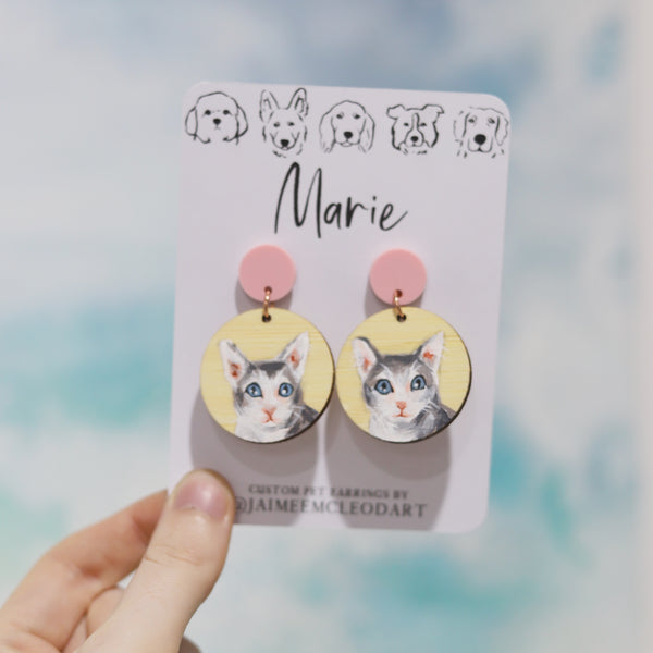 Custom Pet Earrings
