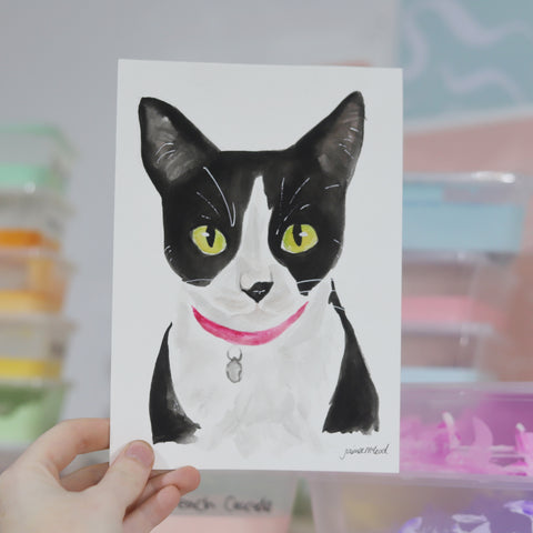 Custom Pet Portrait A5 - Single Pet