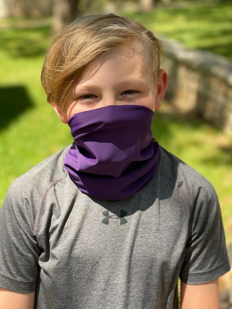 An Uva / Purple Face Covering / Neck Gaiter perfect for hiking, adventures, and just ordinary everyday activities where a  facemask is required.