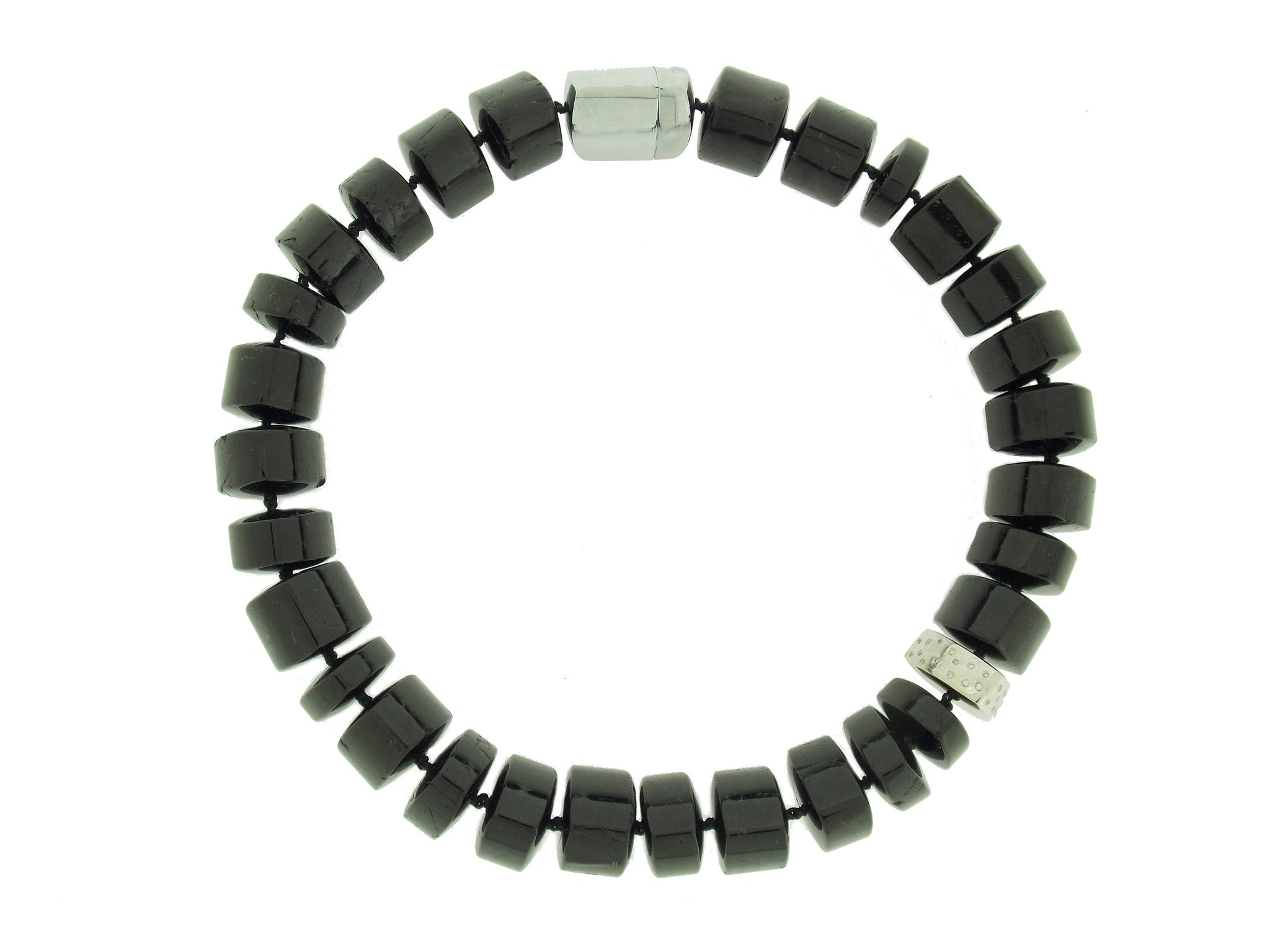 Black Tourmaline and Diamond Necklace