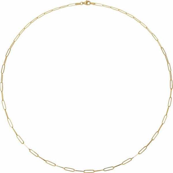 Paper Clip Chain  Yellow Gold