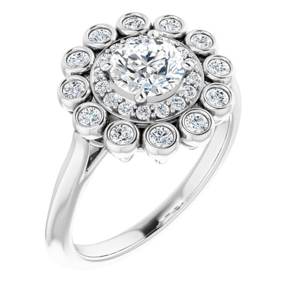 Double Halo Diamond Ring