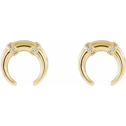 Crescent Diamond Earrings