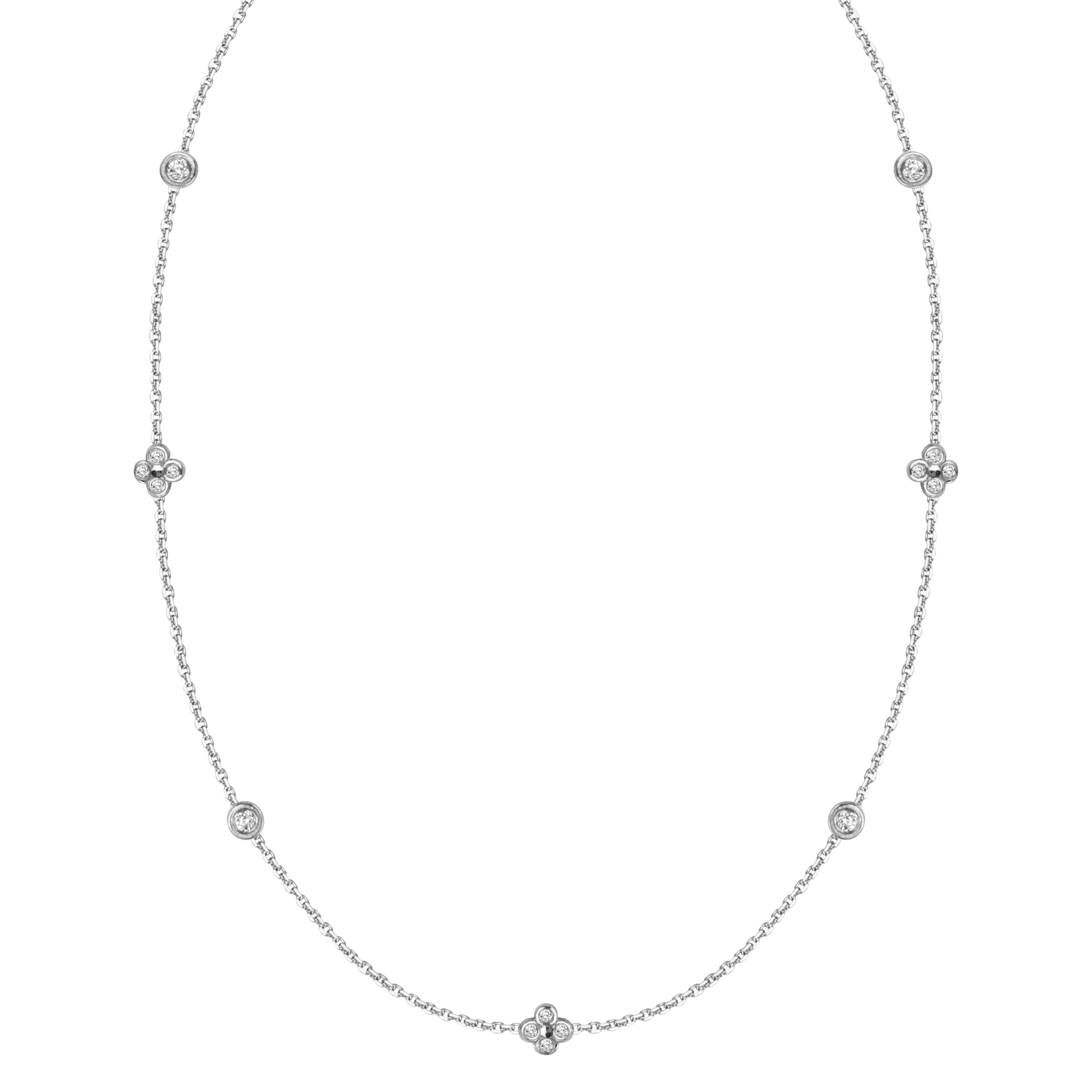Floating Cluster Diamond Necklace