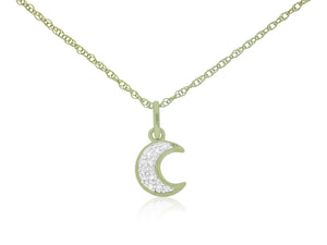 Moon Diamond Charm with Chain