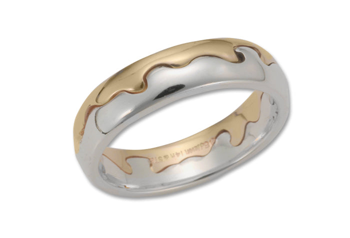 Waters Edge Two Tone Ring