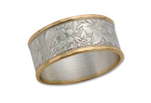 Bouquet Sterling and Gold Ring