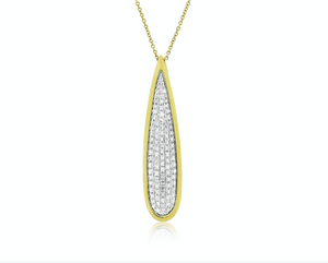 Diamond Paved Drop Pendant