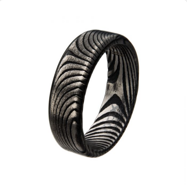 Mens Damascus Ring