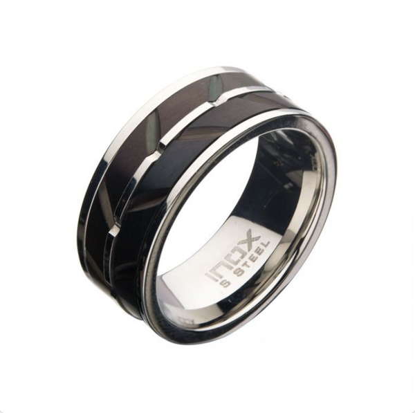 Mens Stainless Steel Wave Ring
