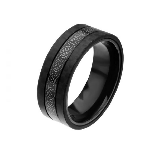 Mens Stainless Steel Celtic Ring
