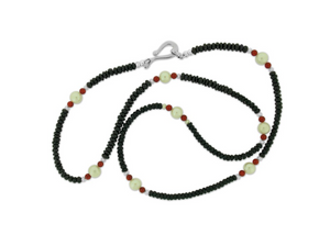 Spinel, Pearl and Coral Necklace