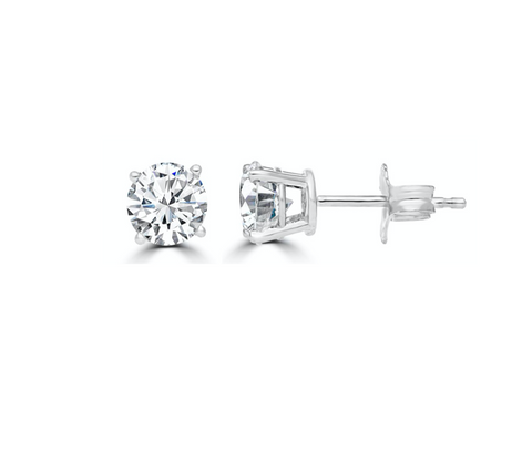 Diamond Stud Earrings 3/8 Carat