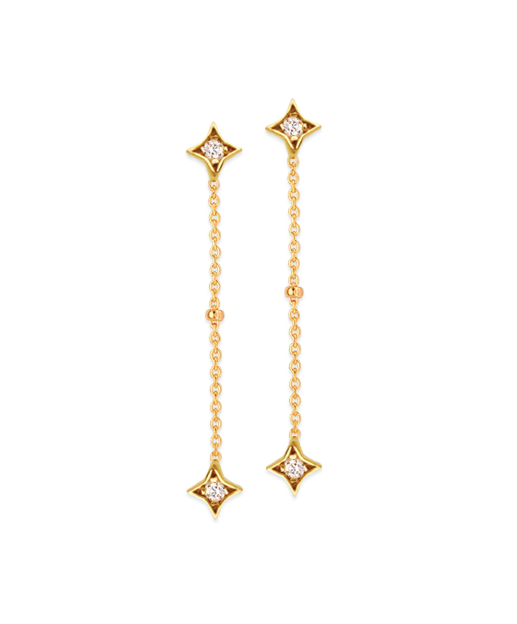 Star Dangle Diamond Earrings
