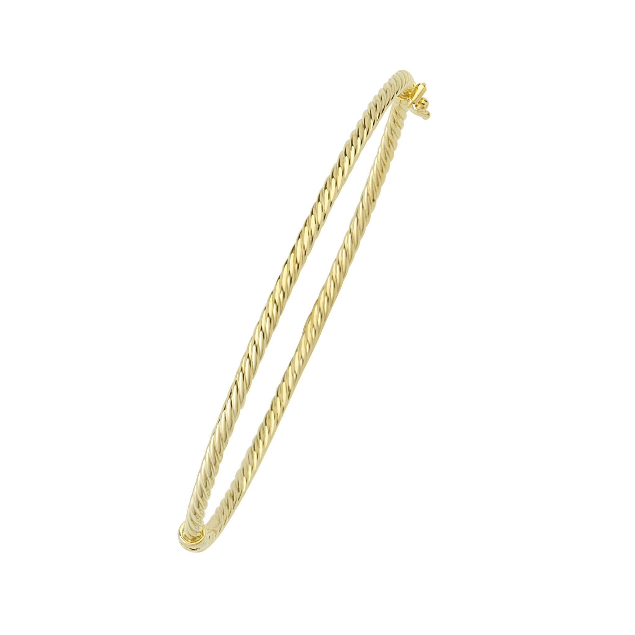 Twisted Tube Stackable Gold Bracelet