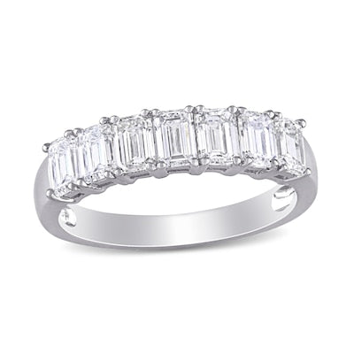 Emerald Cut Diamond Anniversary Band