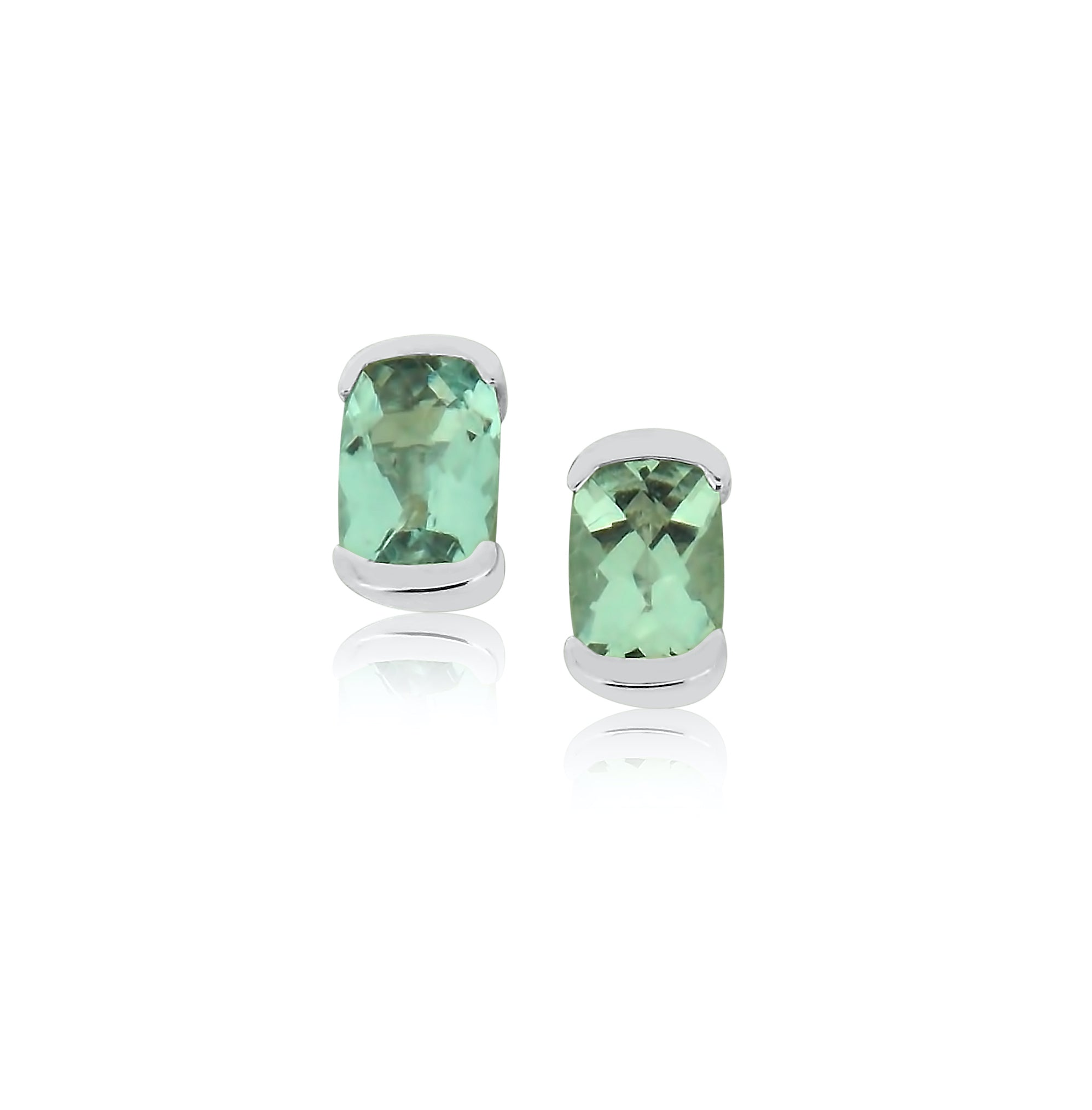 Aquamarine and White Gold Earrings