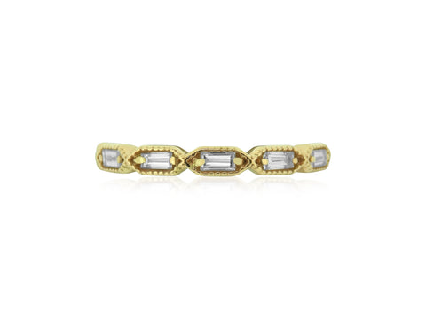 Baguette Diamond Milgrain Band
