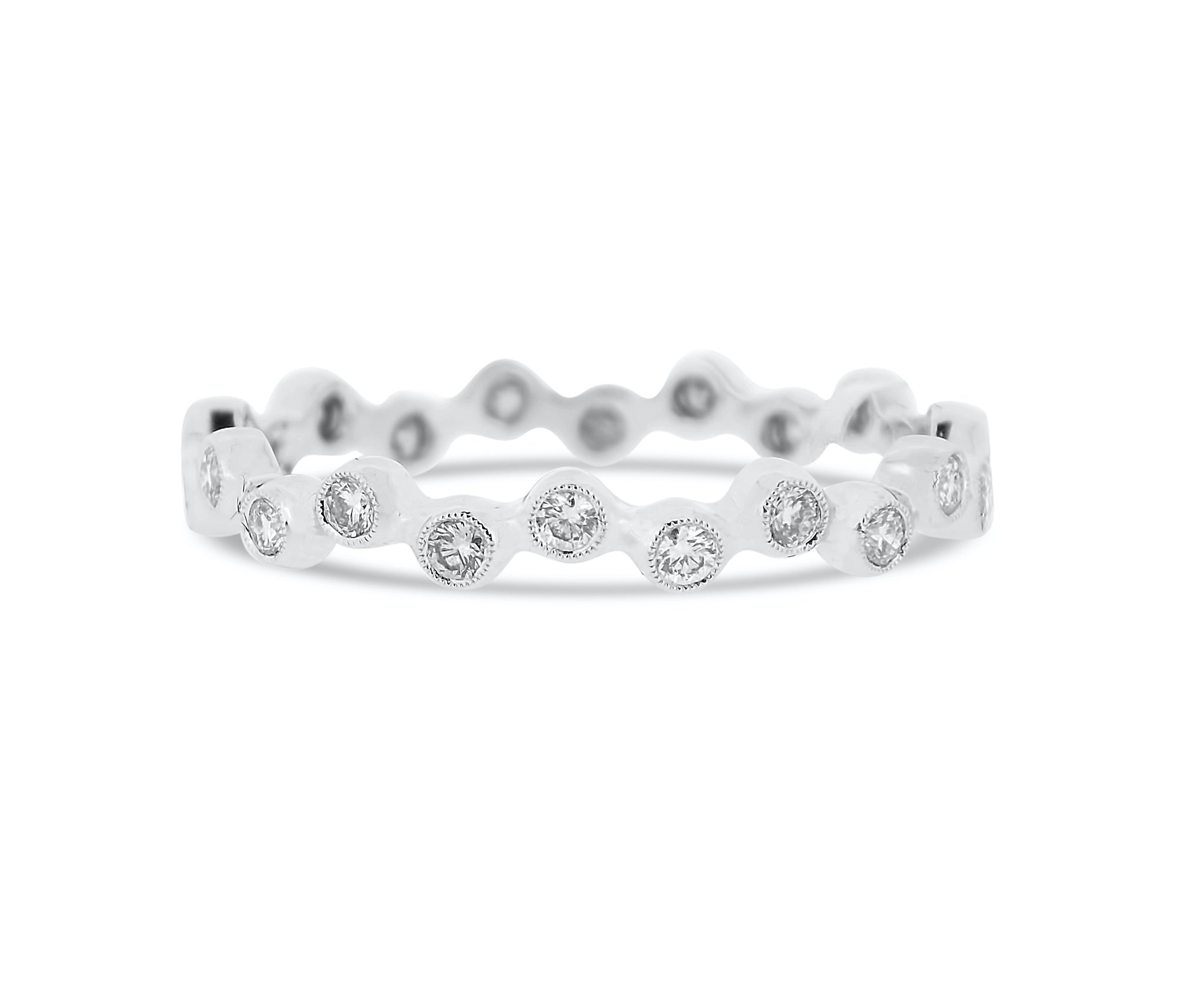 Bezel Diamond Eternity Band