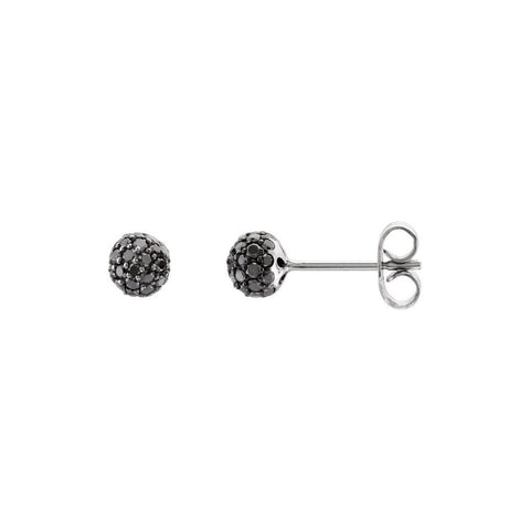 Black Diamond Disco Ball Earrings