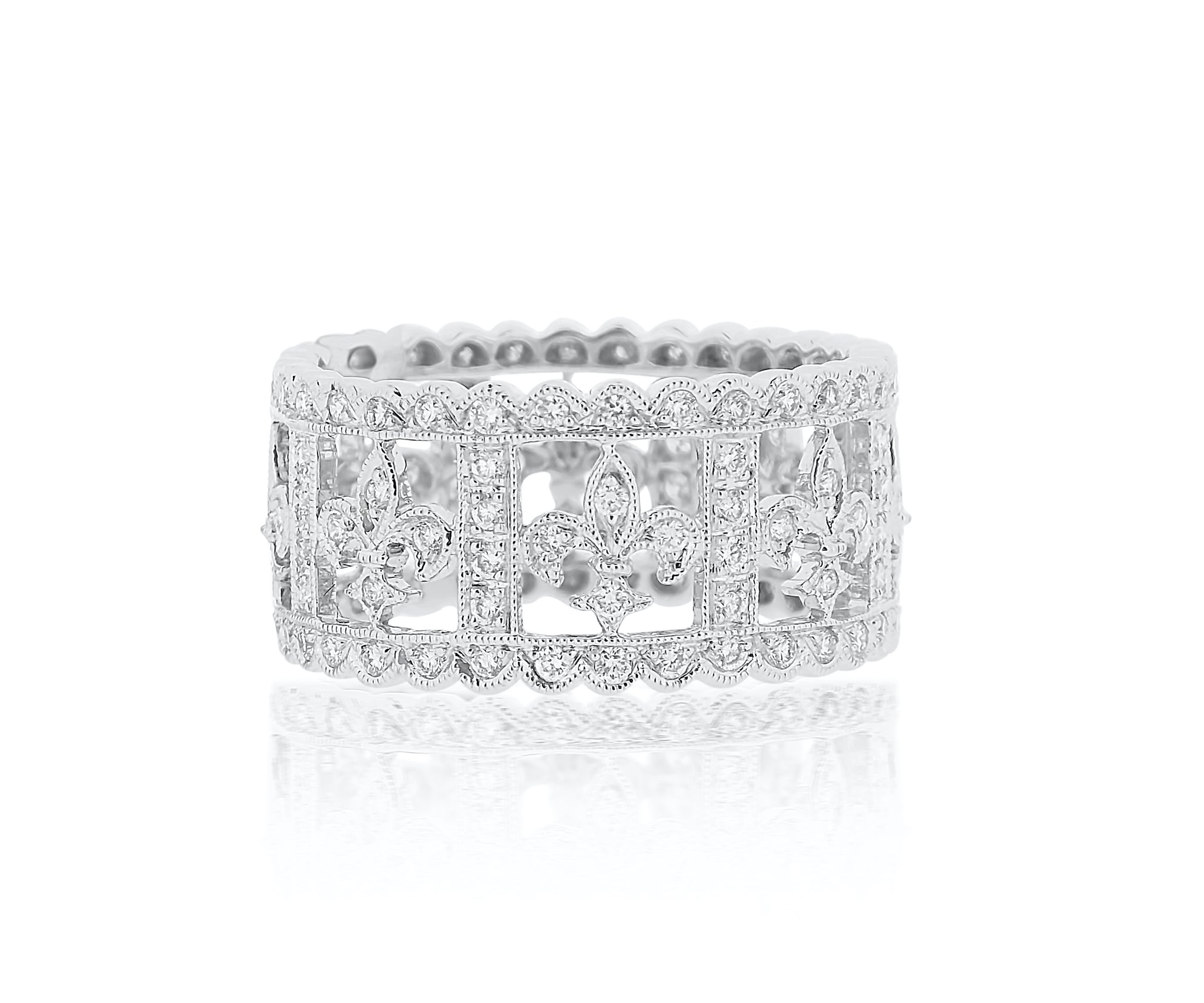 Fleur-de-lis Diamond Eternity Band