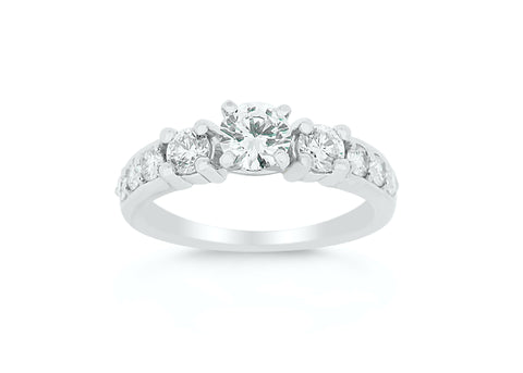 Diamond Tapered Engagement Ring