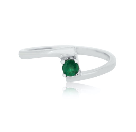 Birthstone Emerald Stacking Ring