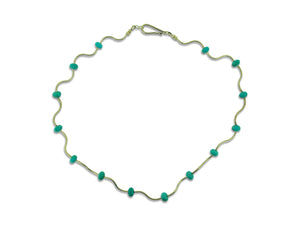 Turquoise and Gold Collar