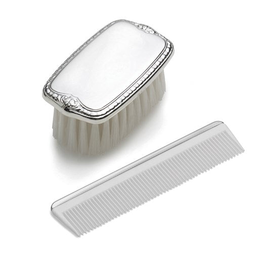 Sterling Silver Boy's Comb and Brush Set