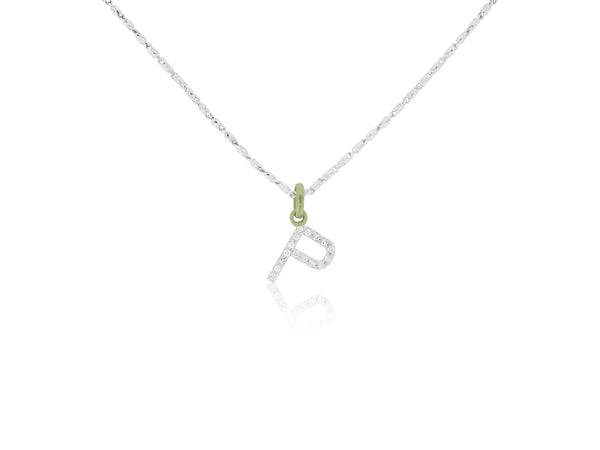 Initial Diamond P Charm with Chain