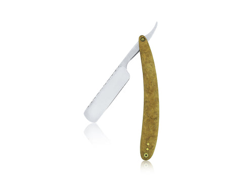 Satin Wood Straight Edge Razor