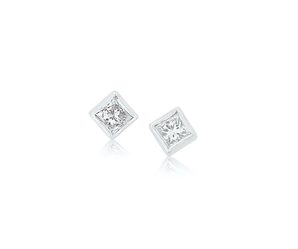 Princess Diamond Earring Studs