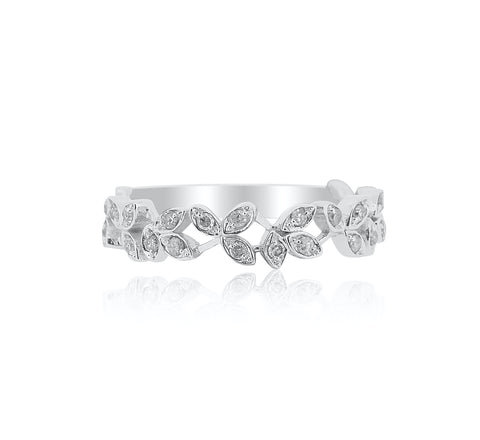 Band with Diamond Leaf Pattern