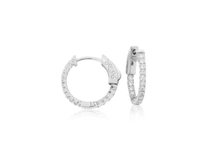 Small Diamond Hoops