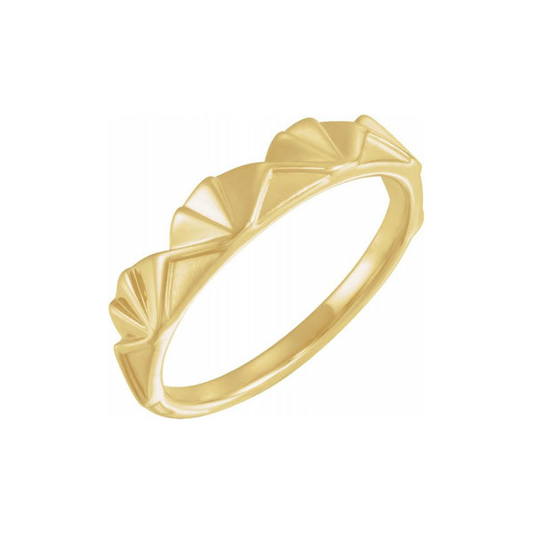 Stackable Crown Gold Band