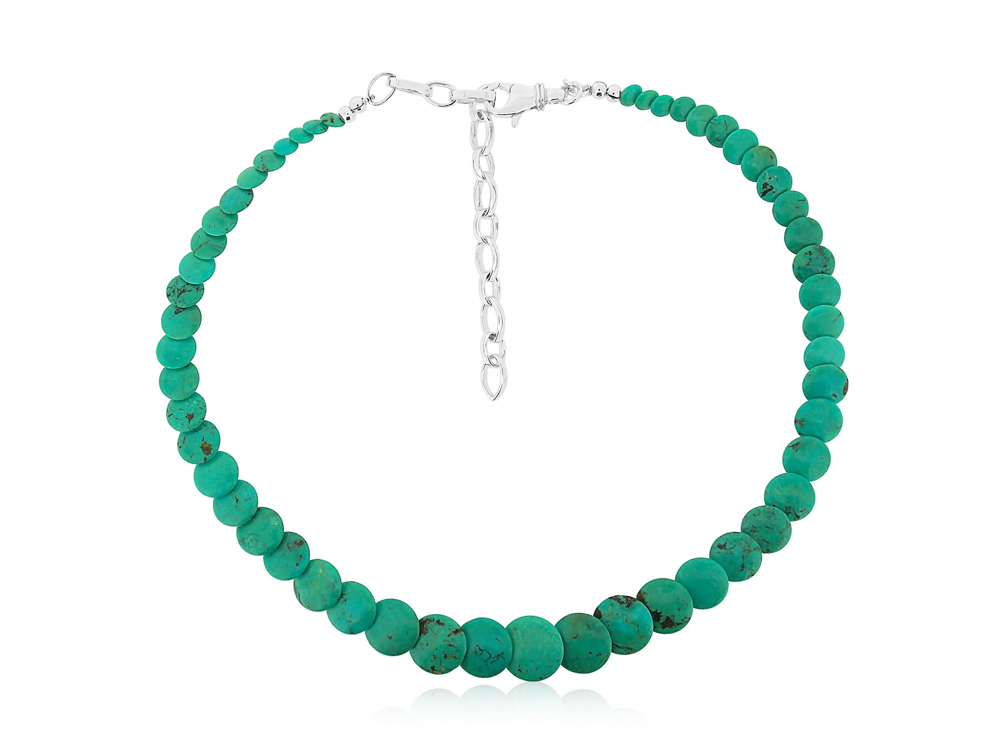 Kingman Turquoise Small Disc Necklace