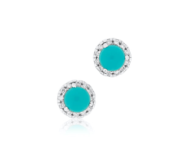 Diamond and Turquoise Earrings