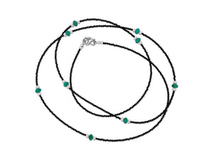 Roundel Turquoise and Spinel Necklace