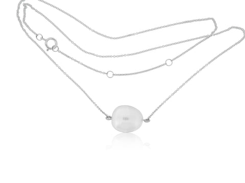 Baroque White South Sea Pearl Pendant