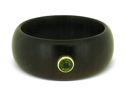 Peridot Wooden Bangle