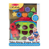 Melissa & Doug Take Along Shape Sorter Baby & Toddler Toy