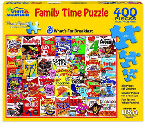White Mountain What's For Breakfast Family Style 400 pc Puzzle