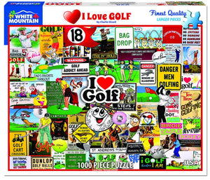 White Mountain I Love Golf 1000 pc Puzzle